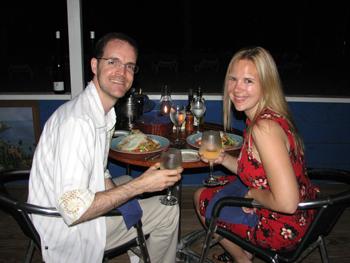 Anguilla Dinner at Trattoria Tramonto