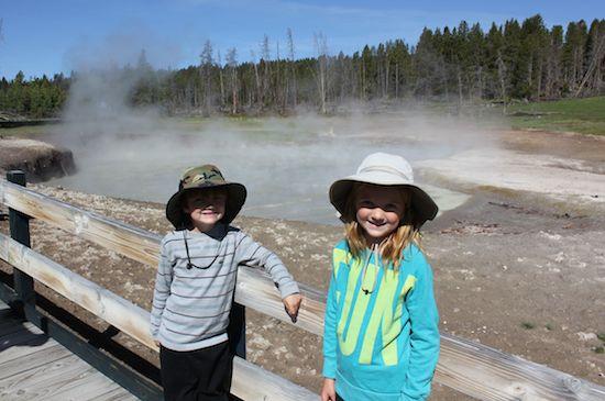 Kids at the Mud Pots