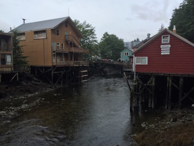 River with Stilted Houses